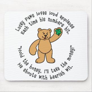 Lucky Paws Teddy Bear Mouse Pad