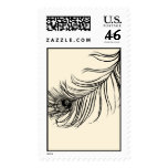 LUCKY PEACOCK FEATHER POSTAGE STAMPS