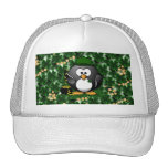 Lucky Penguin with Pot of Gold and Shamrocks Trucker Hats