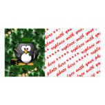 Lucky Penguin with Pot of Gold and Shamrocks Photo Card