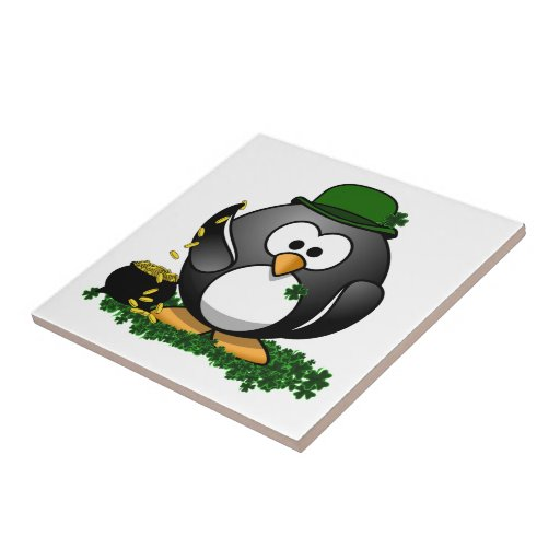 Lucky Penguin with Pot of Gold Tiles