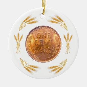Lucky Penny Ceramic Ornament