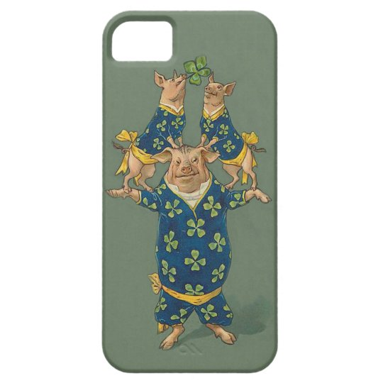 Lucky Pig Acrobats - Cute Vintage iphone5 Case