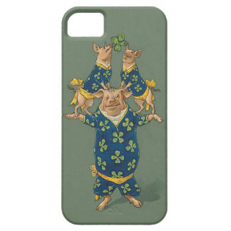 Lucky Pig Acrobats - Cute Vintage iphone5 Case iPhone 5 Cases
