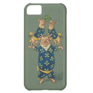 Lucky Pig Acrobats - Cute Vintage iphone5 Case iPhone 5C Covers