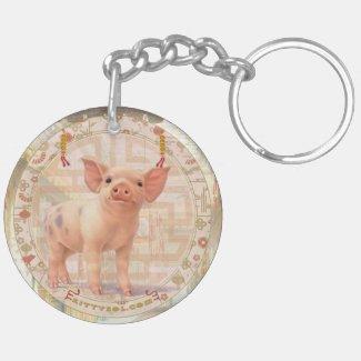 Lucky Pig | Zodiac keychain