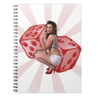 Lucky Pin Up Spiral Notebook