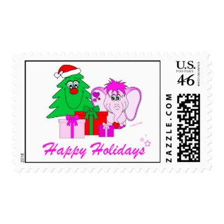 Lucky Pinkie Happy Holidays Stamp