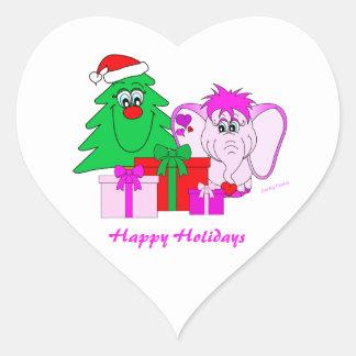 Lucky Pinkie Happy Holidays Sticker