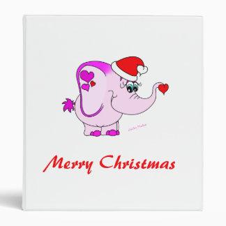 Lucky Pinkie Merry Christmas Binder