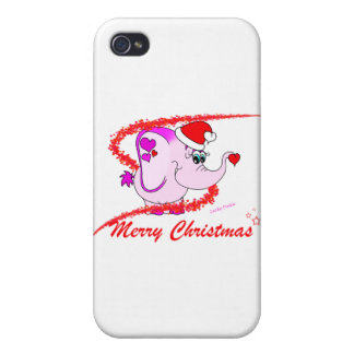 Lucky Pinkie Merry Christmas iPhone 4 Case