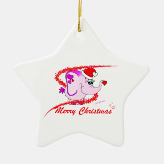 Lucky Pinkie Merry Christmas Ornament