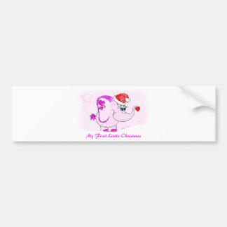 Lucky Pinkie My First Christmas Bumper Sticker Car Bumper Sticker