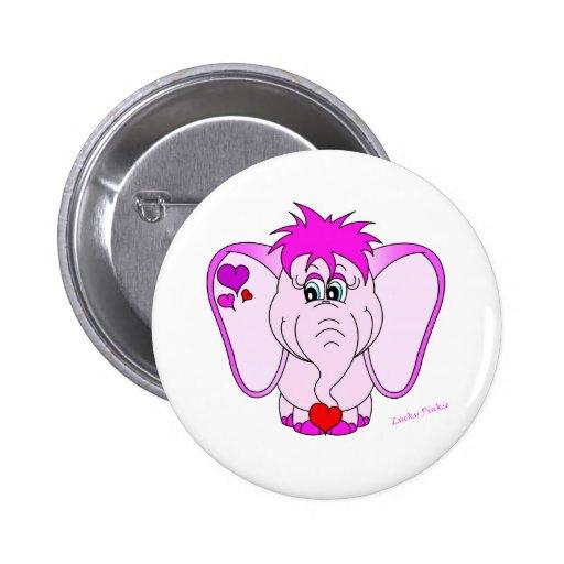 Lucky Pinkie Round Button