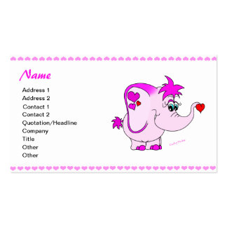 Lucky Pinkie Valentine's Day Business Card