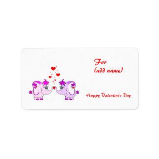 Lucky Pinkie Valentine's Day Label
