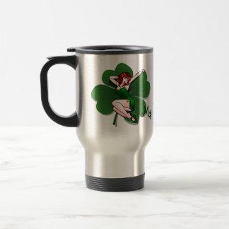 Lucky Pinup Travel Mug St Patrick's Day Mug
