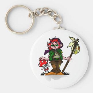 Lucky Pixie Basic Round Button Keychain