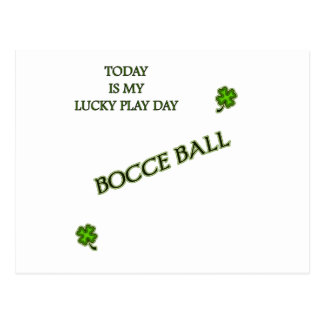 Lucky Play Day Bocce Ball Postcard