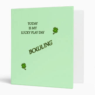 Lucky Play Day Bowling Binder