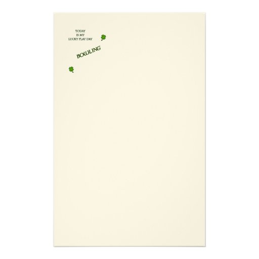 Lucky Play Day Bowling Stationery