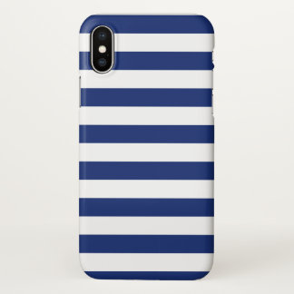 Lucky Point Blue and White Stripes iPhone X Case