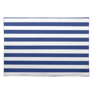 Lucky Point Blue and White Stripes Placemat