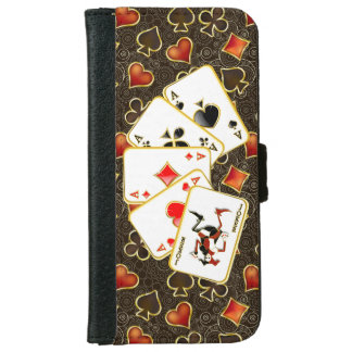 Lucky Poker Cards -  iPhone 6 iPhone 6/6s Wallet Case