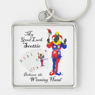 Lucky Poker Scottish Terrier Keychain