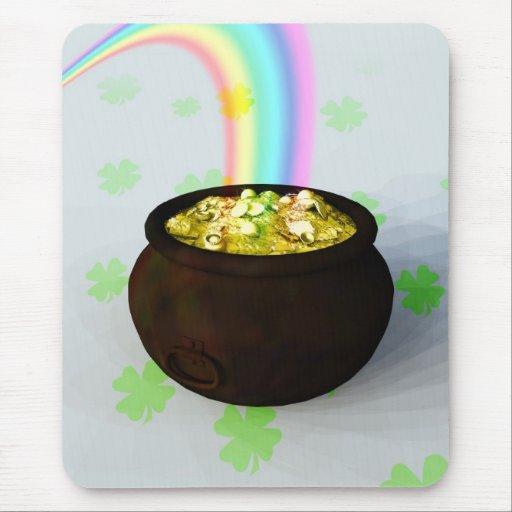 Lucky Pot of Gold Mousepad