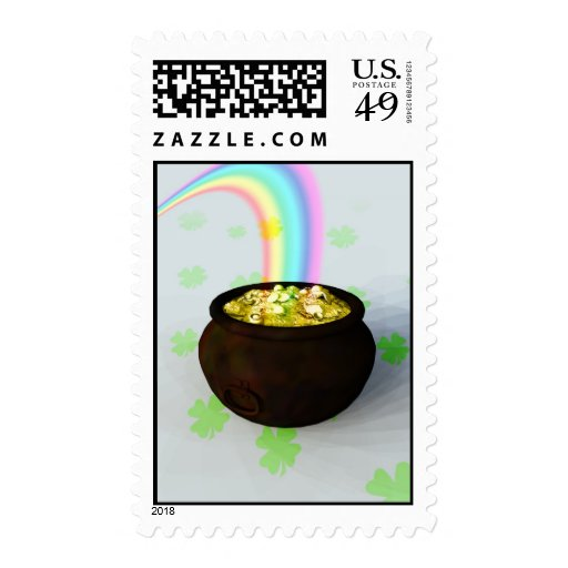 Lucky Pot of Gold Postage