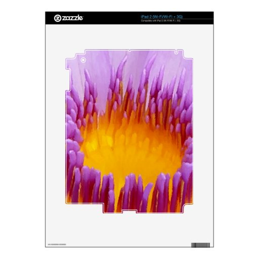 Lucky Purple Lotus Flower Water Lily Decal For iPad 2