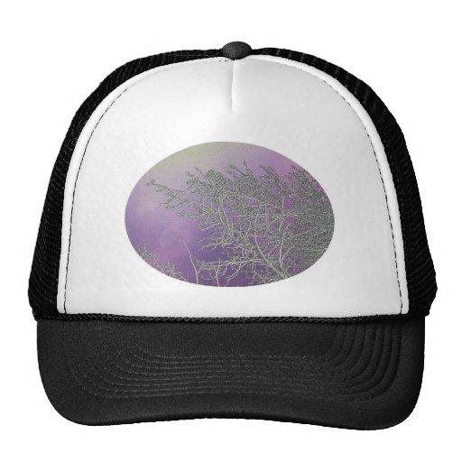 Lucky Purple n Silver Streaks V5 Trucker Hats