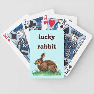 lucky rabbit playing cards