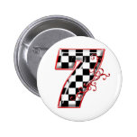 lucky race number 7 2 inch round button