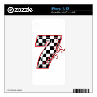 lucky race number 7 iPhone 4S decal