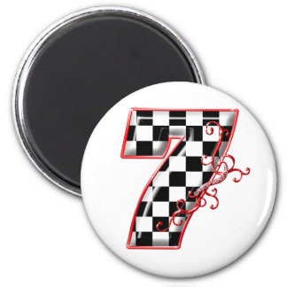 lucky race number 7 magnet