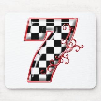 lucky race number 7 mouse pad