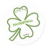 Lucky Racquetball Classic Round Sticker