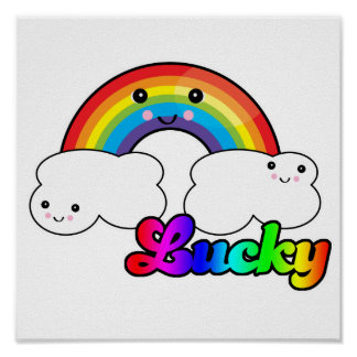 lucky rainbow poster