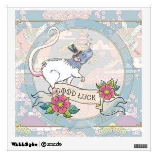 Lucky Rat | wall art Wall Decal