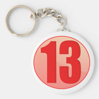 LUCKY RED 13 PRODUCTS KEYCHAIN