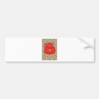 Lucky Red Cat Bumper Sticker