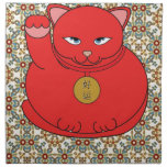 Lucky Red Cat Cloth Napkin
