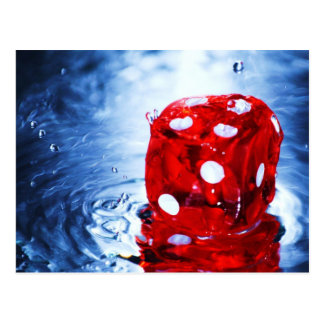 Lucky Red Dice Postcard