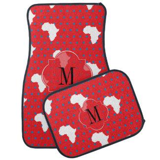Lucky red Diva Elephants Car Floor Mat