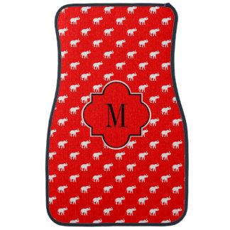 Lucky red Diva Elephants Car Mat