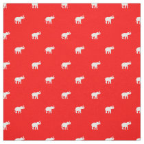 Lucky Red Elephant Fabric