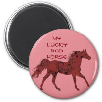 Lucky Red Horse | magnet