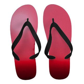 Lucky Red Sunrise Flip-Flops